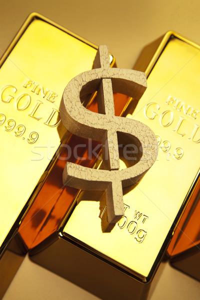 Stok fotoğraf: Altın · çubuklar · fotoğraf · iş