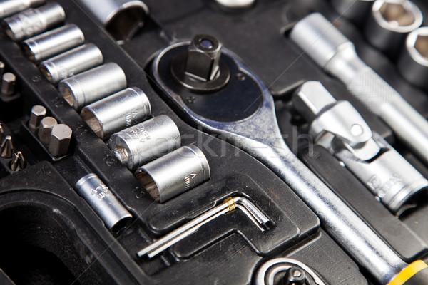 Essentieel tools iedereen sleutels model metaal Stockfoto © BrunoWeltmann