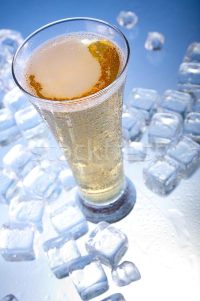 Сток-фото: холодно · пива · льда · стекла · пузырьки · алкоголя