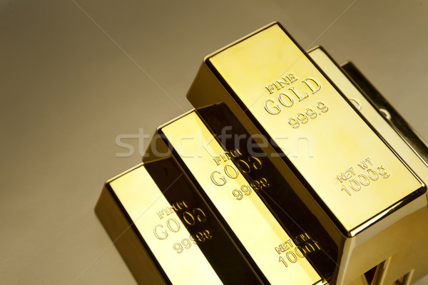 Gold bars photo Stock photo © BrunoWeltmann