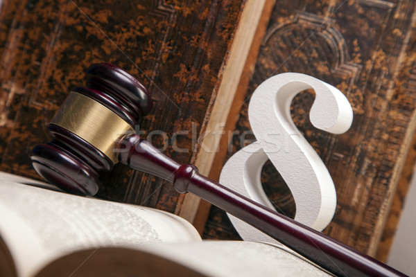 Törvény igazság kalapács fehér bíró egyensúly Stock fotó © BrunoWeltmann