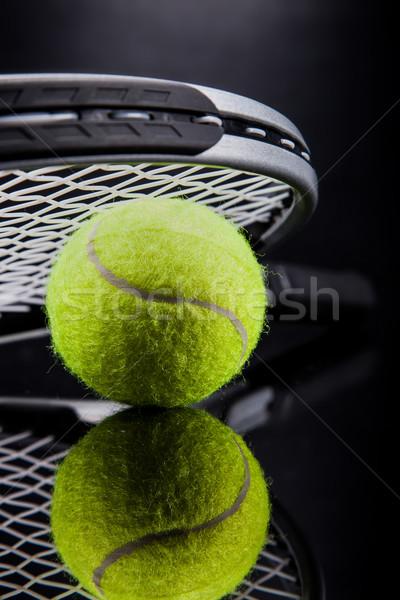Set racchetta da tennis palla sport tennis Foto d'archivio © BrunoWeltmann