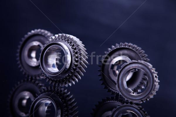Big metal gears Stock photo © BrunoWeltmann