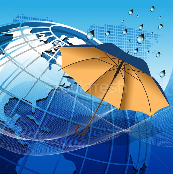 Globe under the umbrella Stock photo © brux