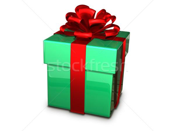 gift box green Stock photo © brux