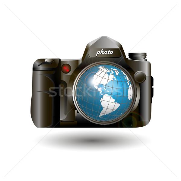 photo and globe Stock photo © brux