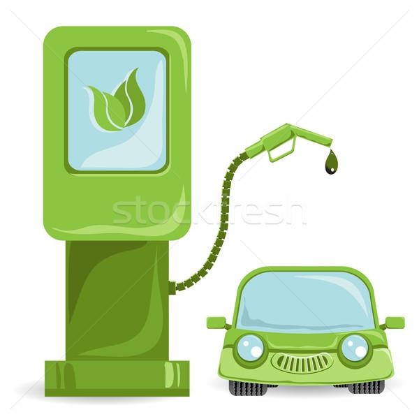 Auto bio illustrazione carburante auto natura Foto d'archivio © brux