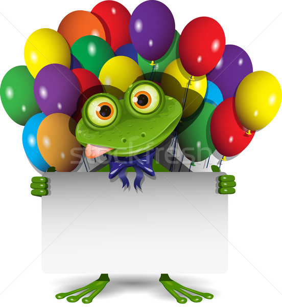 Frog and Balloons Stock photo © brux