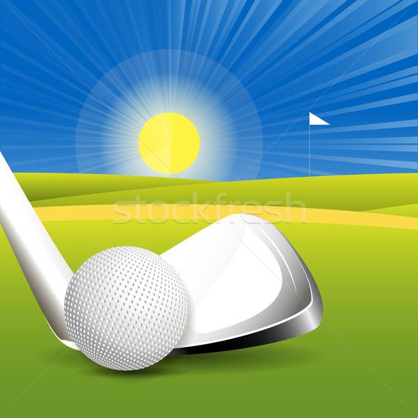 Golf ilustración pelota campo deporte arco iris Foto stock © brux