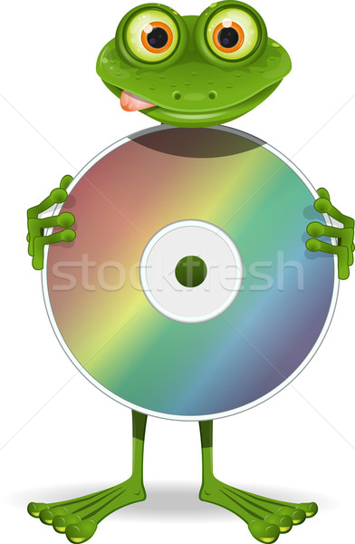 Frog and CD Stock photo © brux