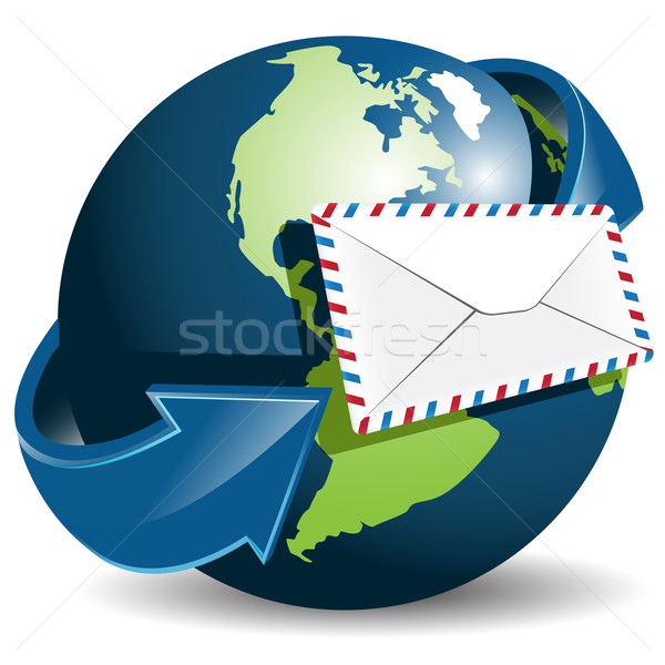 globe and envelope Stock photo © brux