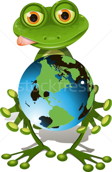 frog and globe Stock photo © brux