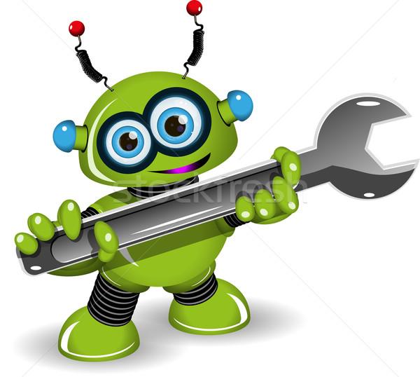 Robot illustrazione verde scienza giocattolo Foto d'archivio © brux