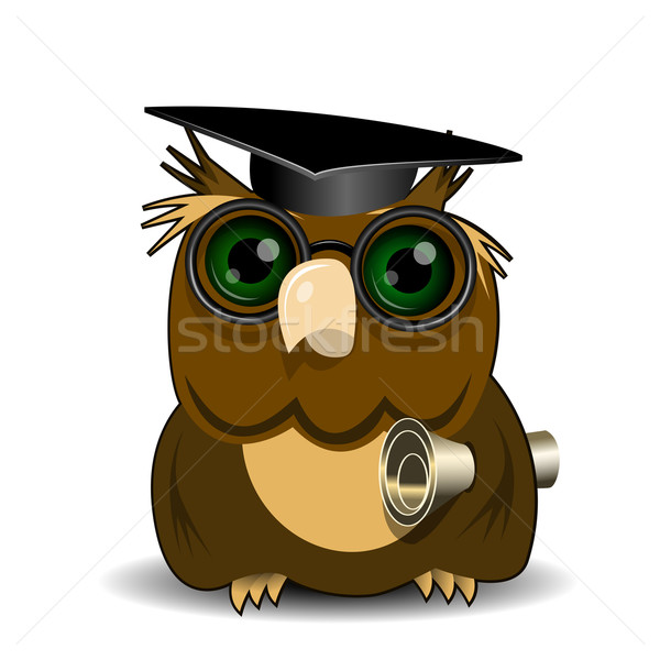 Owl scientist Stock photo © brux