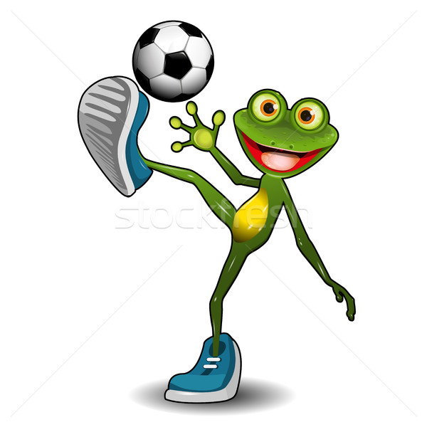 Frog with a Soccer Ball Stock photo © brux