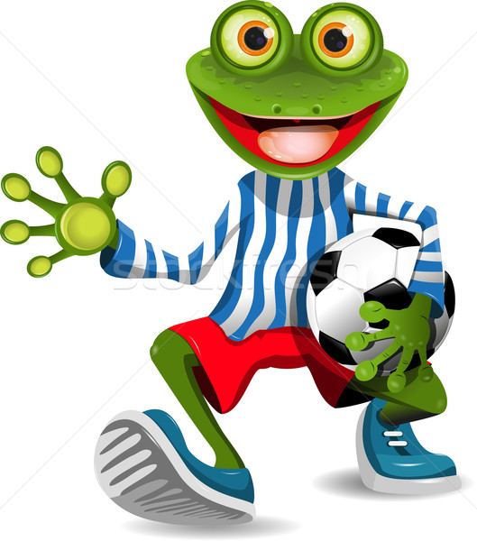 frog football player Stock photo © brux