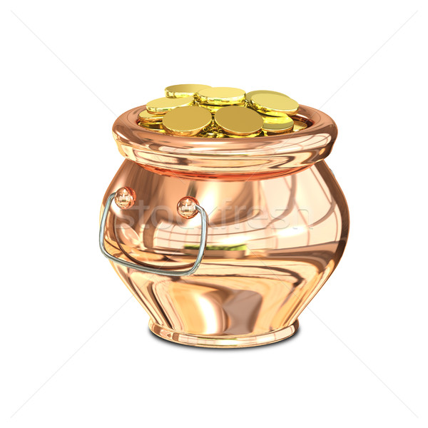 3D Illustration of Golden Pot Stock photo © brux