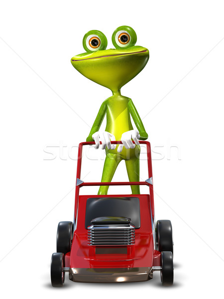 Frog with a frontal mower Stock photo © brux