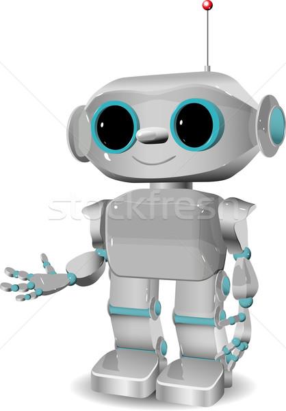 cheerful plastic robot Stock photo © brux