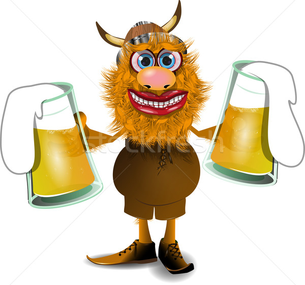 viking with beer Stock photo © brux