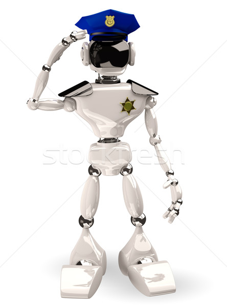 cop robot Stock photo © brux