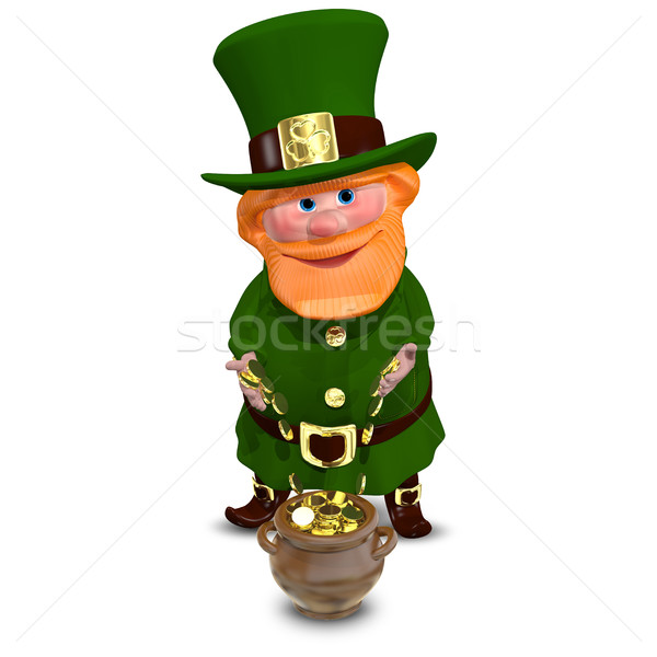 3D Illustration of Saint Patrick with Gold Coins Stock photo © brux