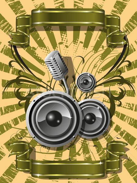 Música resumen ilustración patrón musical danza Foto stock © brux