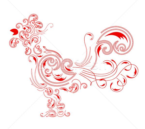 コック 実例 赤 白 芸術 ストックフォト © brux