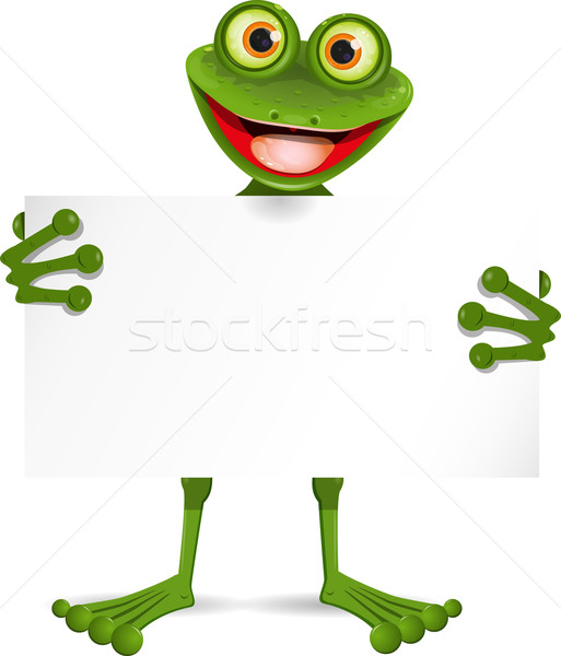 Frog with a white plate Stock photo © brux