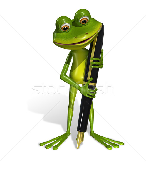 frog with a pen Stock photo © brux