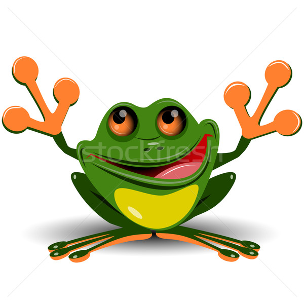 Merry frog Stock photo © brux