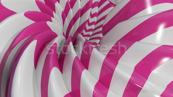 Ilustração 3d abstrato caramelo rosa textura tecnologia Foto stock © brux