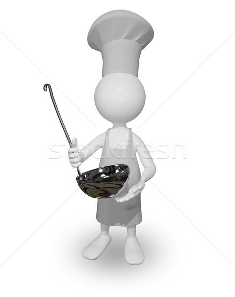 Gotować chochla streszczenie ilustracja kucharz jedzenie Zdjęcia stock © brux