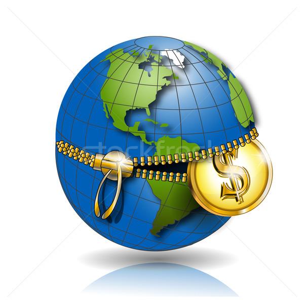 globe with dollar Stock photo © brux