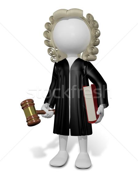 судья аннотация иллюстрация парик книга человека Сток-фото © brux