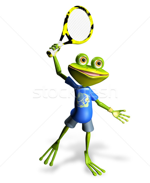 frog tennis Stock photo © brux