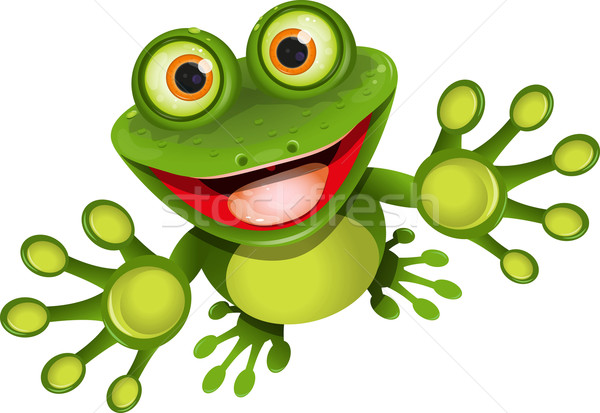 happy frog Stock photo © brux