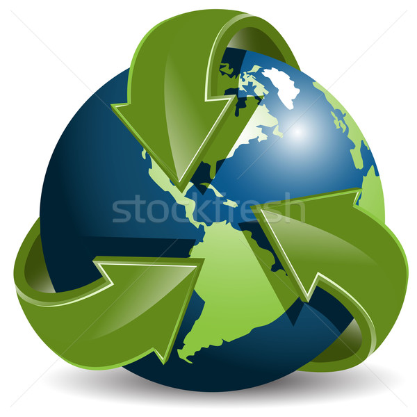 Globe and green arrows Stock photo © brux