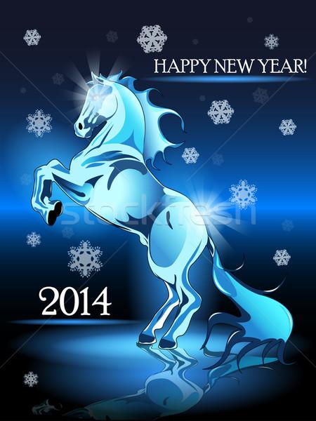 New Year horse Stock photo © brux