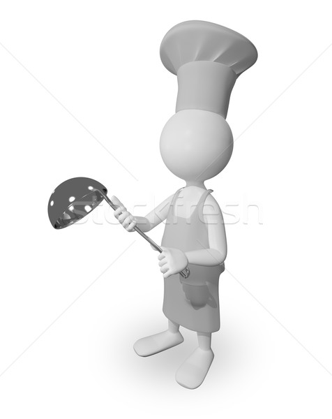 Szakács merőkanál absztrakt illusztráció szakács eszik Stock fotó © brux