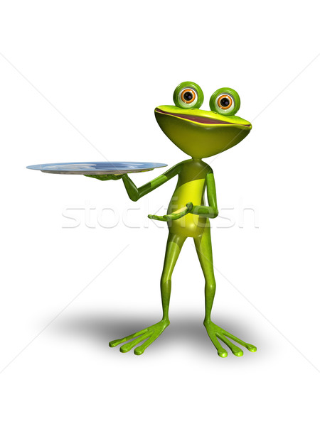 Frog with a tray  Stock photo © brux