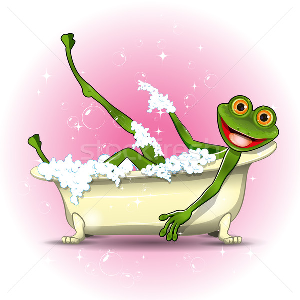Frog in a bath Stock photo © brux