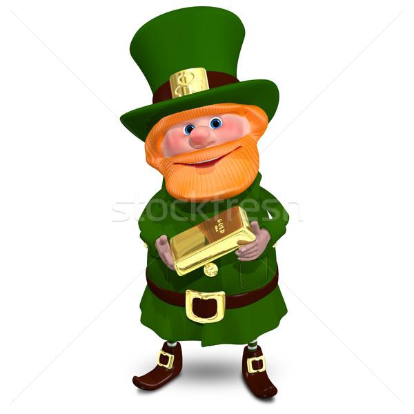 3D Illustration of Saint Patrick with Gold Bullion Stock photo © brux