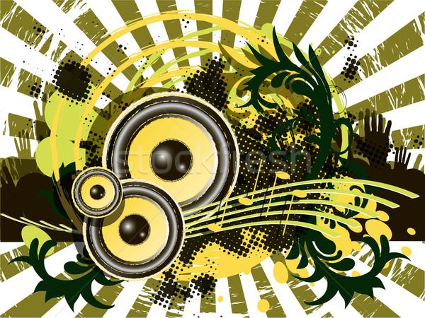 Música resumen ilustración patrón musical hombre Foto stock © brux