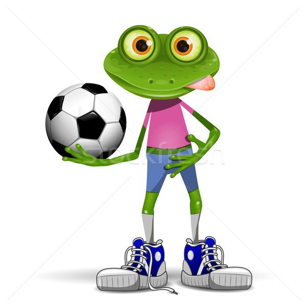 Frog soccer player Stock photo © brux
