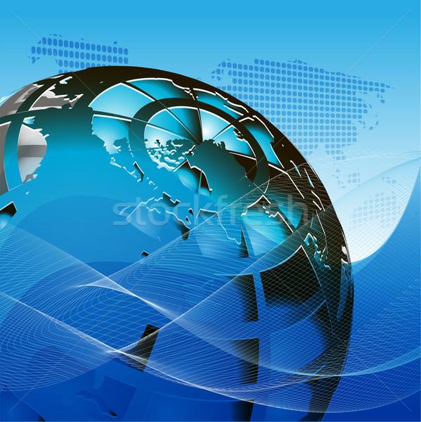 Texture mondo illustrazione net come blu Foto d'archivio © brux
