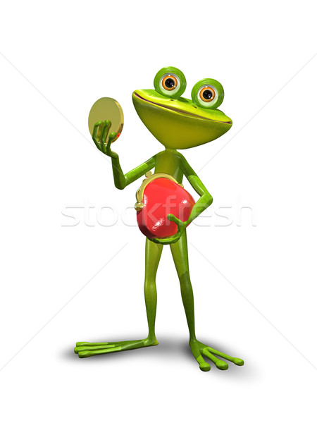 Frog with a purse Stock photo © brux