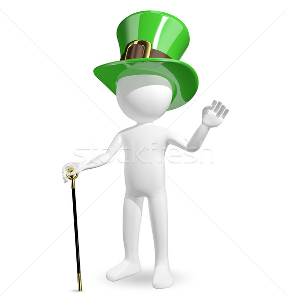man in hat St. Patrick's Stock photo © brux