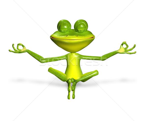 緑 カエル 3次元の図 陽気な 大きな目 笑顔 ストックフォト © brux