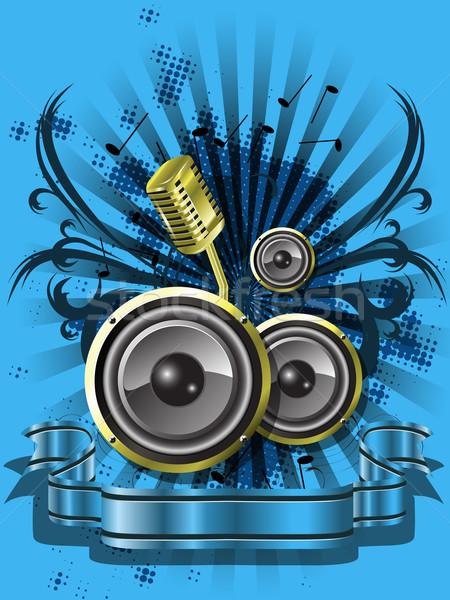 blue musical background Stock photo © brux